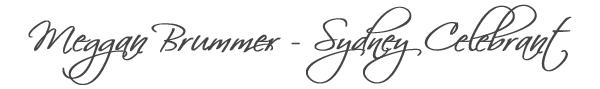 Meggan Brummer - Sydney Marriage Celebrant